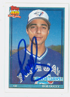 Rob Ducey AUTOGRAPH 1991 Topps Blue Jays 