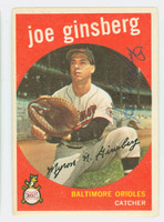 Joe Ginsberg AUTOGRAPH d.12 1959 Topps #66 Orioles CARD IS VG, CLEAN SIG