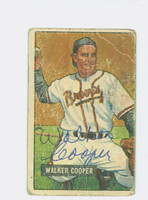 Walker Cooper AUTOGRAPH d.91 1951 Bowman #135 Braves CARD IS POOR