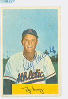 Ray Murray AUTOGRAPH d.03 1954 Bowman #83 Athletics CARD IS G-VG, NO CREASES SIG IS CLEAN  [SKU:MurrR232_BW54BBHC]