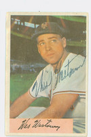 Wes Westrum AUTOGRAPH d.02 1954 Bowman #25 Giants 1000 FA CARD IS VG