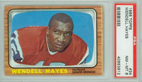 1966 Topps Football 34 Wendell Hayes Denver Broncos PSA 8 Near Mint to Mint