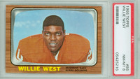 1966 Topps Football 86 Willie West ROOKIE Miami Dolphins PSA 8 Near Mint to Mint