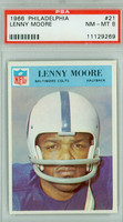 1966 Philadelphia 21 Lenny Moore Baltimore Colts PSA 8 Near Mint to Mint