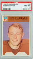1966 Philadelphia 43 Ross Fichtner Cleveland Browns PSA 8 Near Mint to Mint
