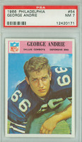 1966 Philadelphia 54 George Andrie Dallas Cowboys PSA 7 Near Mint