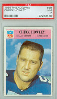 1966 Philadelphia 59 Chuck Howley Dallas Cowboys PSA 7 Near Mint