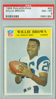 1966 Philadelphia 93 Willie Brown Los Angeles Rams PSA 8 Near Mint to Mint