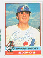 Barry Foote AUTOGRAPH 1976 Topps #42 Expos   [SKU:FootB4604_T76BBHC]