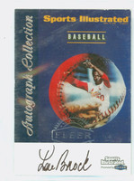 Lou Brock AUTOGRAPH 1999 SI Fleer Greats - Covers Cardinals CERTIFIED 