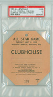 1958 ALL-STAR GAME Memorial Stadium FIELD PASS WP Early Wynn  - July 8, 1958 Excellent