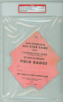 1961 ALL-STAR GAME Candlestick Park FIELD PASS HR Harmon Killebrew  - July 11, 1961 PSA/DNA Authentic