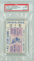 1963 ALL-STAR GAME Cleveland Stadium TICKET STUB Wilie Mays 2 Hits  - July 9, 1963 PSA/DNA Authentic