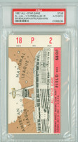 1967 ALL-STAR GAME Anaheim Stadium TICKET STUB HR Tony Perez, Richie Allen  - July 11, 1967 PSA/DNA Authentic