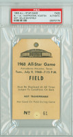 1968 ALL-STAR GAME Astrodome FIELD PASS MVP Willie Mays  - July 9, 1968 PSA/DNA Authentic