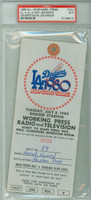 1980 ALL-STAR GAME Dodger Stadium PRESS PASS MVP Ken Griffey  - July 8, 1980 Excellent