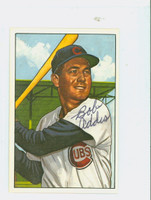 Bob Addis AUTOGRAPH 1952 Bowman Reprints Cubs 