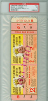 1958 World Series Yankees at Braves - Game 2 Full Ticket  MIL 13-5 HR Mickey Mantle 2 HRs #10 - #11 Excellent