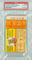 1958 World Series Yankees at Braves - Game 7 Ticket Stub NY 6-2 Yankees Win World Series PSA/DNA Authentic
