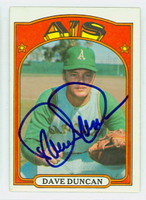 Dave Duncan AUTOGRAPH 1972 Topps #17 Athletics   [SKU:DuncD1729_T72BBHC]
