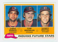 Chris Bando AUTOGRAPH 1981 Topps #451 Indians ROOKIE 
