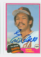 Enos Cabell AUTOGRAPH 1981 Topps #746 TRADED GIANTS 