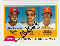 Alan Knicely AUTOGRAPH 1981 Topps #82 Astros ROOKIE 