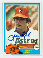 Terry Puhl AUTOGRAPH 1981 Topps #411 Astros 