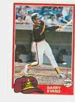 Barry Evans AUTOGRAPH 1981 Topps #72 Padres 