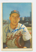 Joe Ginsberg AUTOGRAPH d.12 1953 Bowman Color #6 Browns CARD IS G/VG; SURFACE WEAR