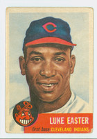 1953 Topps Baseball 2 Luke Easter Cleveland Indians Fair to Good