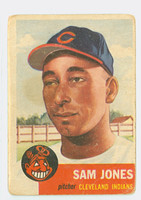 1953 Topps Baseball 6 Sam Jones Single Print Cleveland Indians Fair to Poor