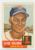 1953 Topps Baseball 32 Clyde Vollmer Single Print Boston Red Sox Fair to Good