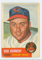 1953 Topps Baseball 33 Bob Kennedy Cleveland Indians Poor