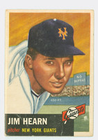 1953 Topps Baseball 38 Jim Hearn New York Giants Fair to Good