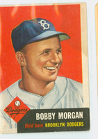 1953 Topps Baseball 85 Bobby Morgan Brooklyn Dodgers Poor