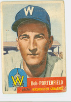 1953 Topps Baseball 108 Bob Porterfield Washington Senators Poor