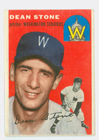1954 Topps Baseball 114 Dean Stone Washington Senators Fair to Good