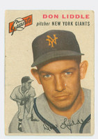 1954 Topps Baseball 225 Don Liddle New York Giants Fair to Good