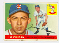 1955 Topps Baseball 14 Jim Finigan Kansas City Athletics Fair to Good