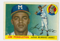 1955 Topps Baseball 15 Jim Pendleton Milwaukee Braves Fair to Good