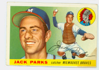 1955 Topps Baseball 23 Jack Parks Milwaukee Braves Fair to Good