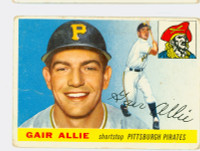 1955 Topps Baseball 59 Gair Allie Pittsburgh Pirates Fair to Poor