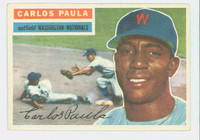 1956 Topps Baseball 4 Carlos Paula Washington Senators Excellent
