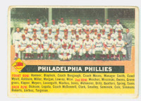 1956 Topps Baseball 72 b Phillies Team CENTER  Fair to Good