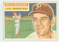 1956 Topps Baseball 81 Wally Westlake Philadelphia Phillies Fair to Poor