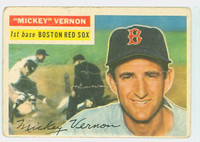 1956 Topps Baseball 228 Mickey Vernon Tough Series Boston Red Sox Poor