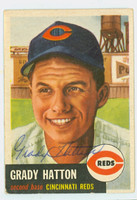 Grady Hatton AUTOGRAPH d.13 1953 Topps #45 Reds CARD IS CLEAN VG; CRN WEAR