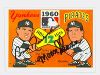 Bobby Richardson - Bill Skowron DUAL SIGNED 1967 Laughlin World Series Yankees 