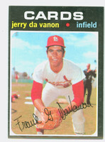 1971 Topps Baseball 32 Jerry Davanon St. Louis Cardinals Excellent to Mint